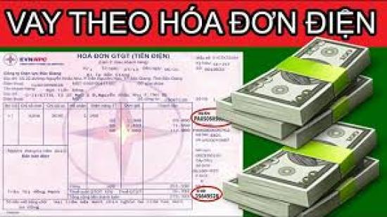 vay theo hoa don dien khong chinh chu